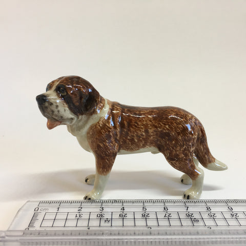 Miniature Ceramic St Bernard Dog