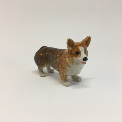 Miniature Ceramic Corgi