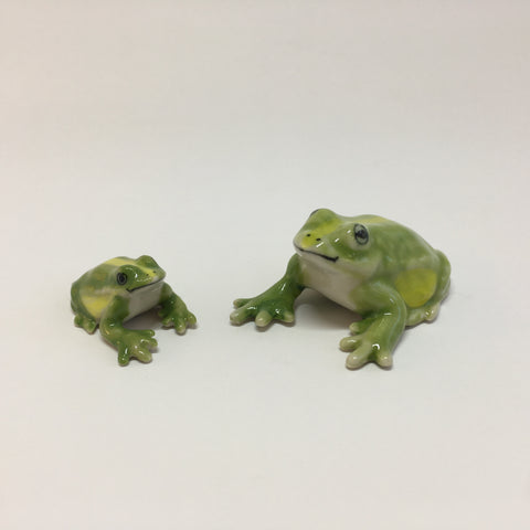 Small Miniature Ceramic Frogs