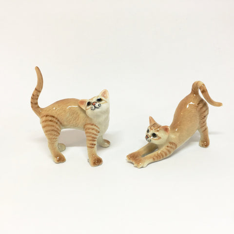Miniature Ceramic Ginger Cats