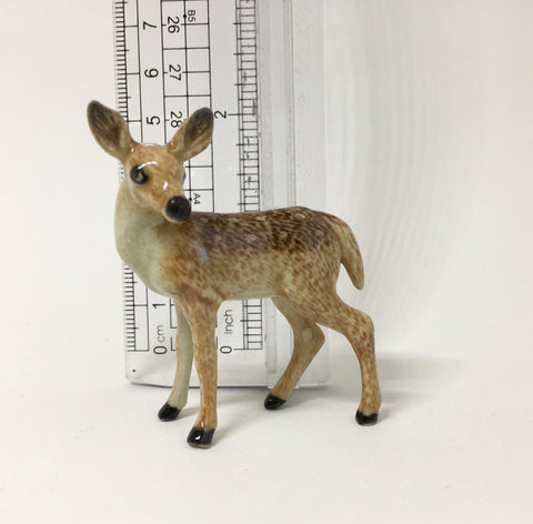 Miniature Ceramic Mother Deer and Fawn