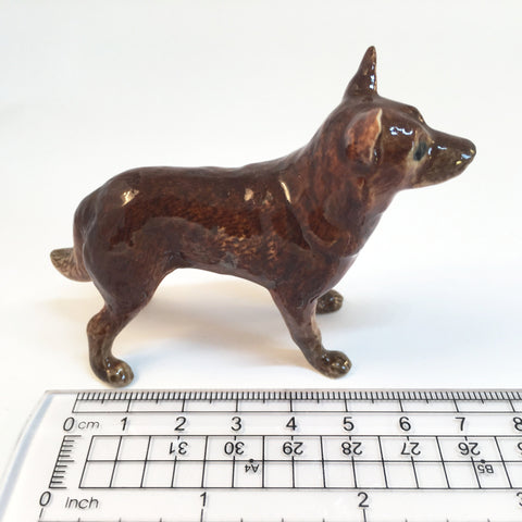 Miniature Ceramic Red Kelpie