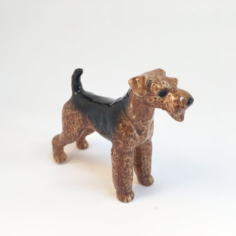 Miniature Ceramic Airedale Terrier