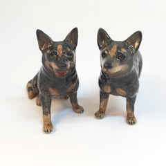 Miniature Ceramic Blue Heeler Cattle Dog