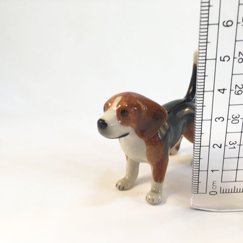 Miniature Ceramic Beagle