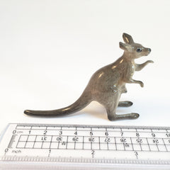 Miniature Ceramic Grey Kangaroo
