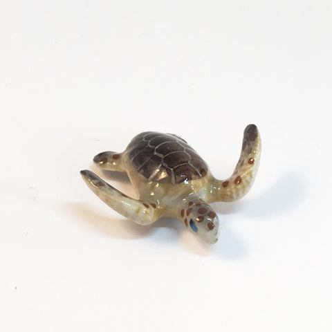 Small Miniature Ceramic Sea Turtle