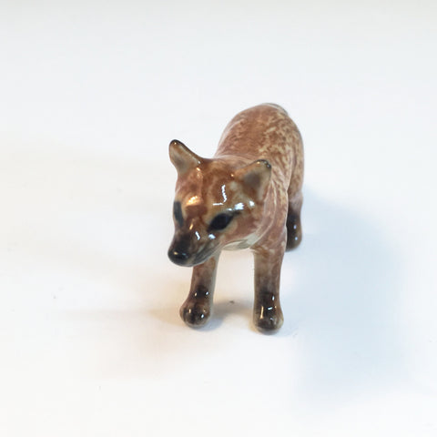 Small Miniature Ceramic Fox - Adult