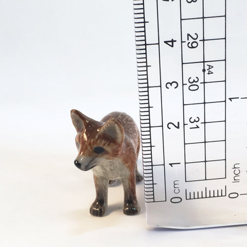 Small Miniature Ceramic Fox - Baby