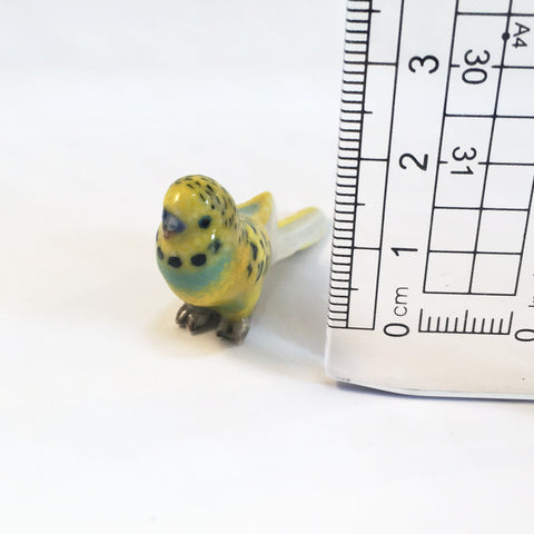 Small Miniature Ceramic Budgerigars