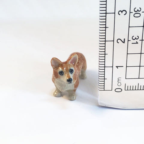 Small Miniature Ceramic Corgi