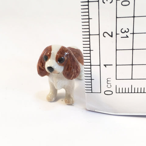 Small Miniature Ceramic Cavalier King Charles Spaniels