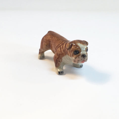 Small Miniature Ceramic Bulldog
