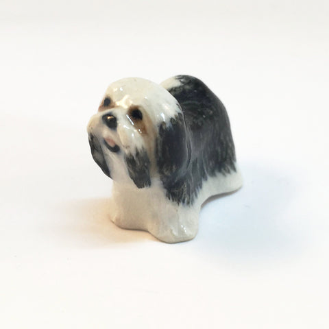 Small Miniature Ceramic Shih Tzu
