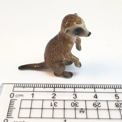 Small Miniature Ceramic Meerkhat Family