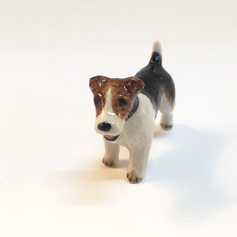 Small Miniature Ceramic Jack Russell - Long Hair