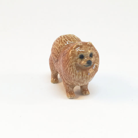Small Miniature Ceramic Pomeranian