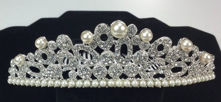 Couture Swarovski Bridal Comb with Pearls