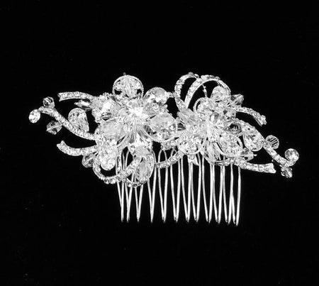 Bridal Crystal Comb with Rhinestones