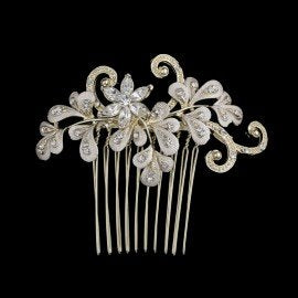 Bridal Hair Comb with Crystals