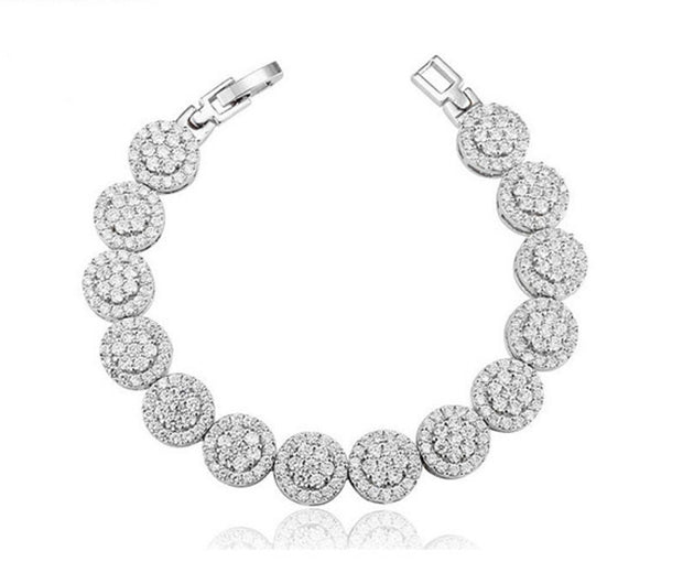 Dazzling AAA CZ Hand-set Micro Pave Bracelet for Brides and Special Occasions