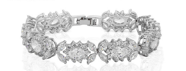 Luxury Sparkling AAA Cubic Zirconia Wedding and Special Occasion Bracelet