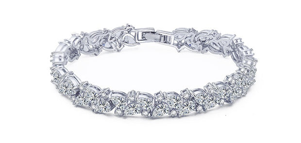 Brilliant Cut Cubic Zirconia Wedding and Special Occasion Bracelet