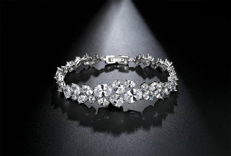 AAA CZ Shimmering Bracelet for Brides, Wedding and Special Occasions