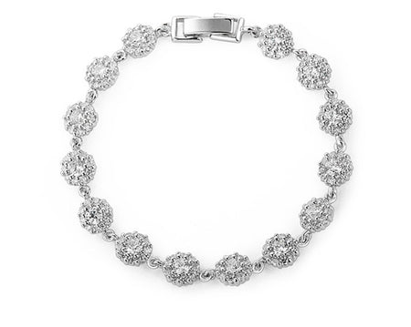 Lovely, Delicate CZ Bracelet for Brides, Weddings and Special Occasions