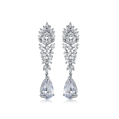 Dangling AAA CZ Earrings for Brides, Weddings and Special Occasions