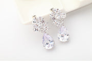 AAA Cubic Zirconia Earrings for Wedding and Special Occasion