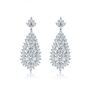 Classy, Lovely AAA Cubic Zirconia Bridal, Wedding and Special Occasion Earrings