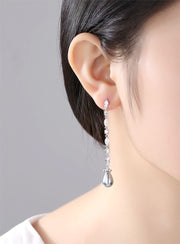 Bridesmaid and Special Occasion Dangling Earrings with Pearl