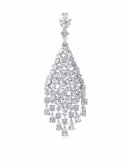 Dangling AAA CZ Chandelier Earrings for Brides and Special Occasions