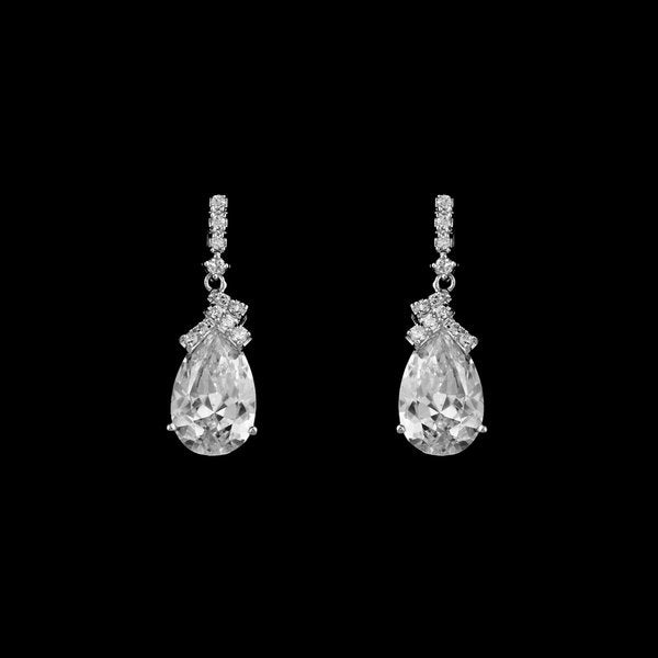 Elegant AAA Zirconia Tear Drop Post Earring