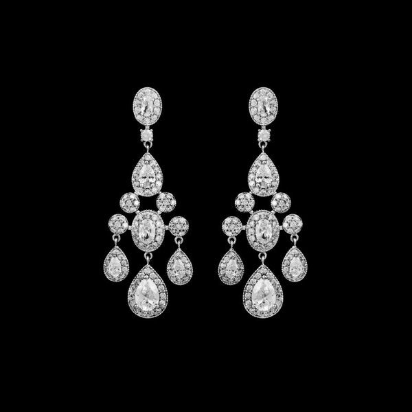 Pave Zirconia Chandelier Special Occasion/Wedding Earring