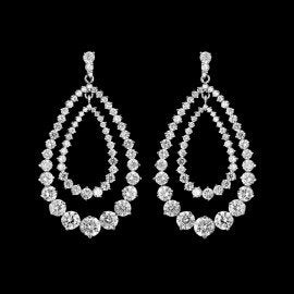 "ouble Hoop AAA ""Zirconia Earring for Weddings"