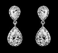 Pear Shaped CZ Wedding Earring