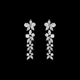 CZ Wedding Earring, Floral