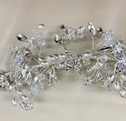 Gorgeous Crystal and Pearl  Wrap Around Bridal Hair Accessory