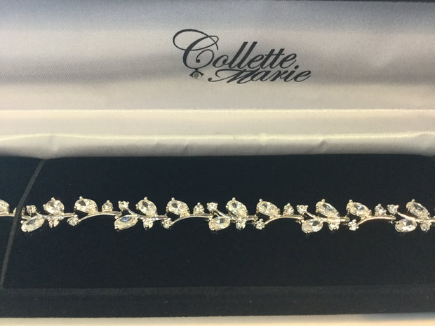 Cubic Zirconia Bridal Wedding Bracelet