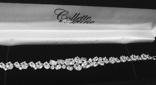 Beautiful Bridal/Special Occasion Cubic Zirconia Bracelet