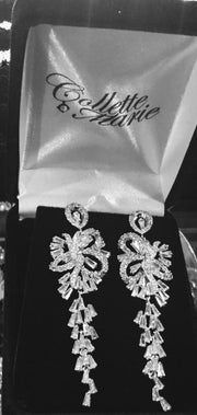 Dangling Cubic Zirconia Wedding/Special Occasion Chandelier Earrings