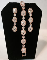 Rose Gold Cubic Zirconia Wedding/Special Occasion Bracelet