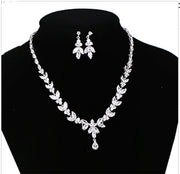 Bridal Jewelry Set AAA CZ Necklace and Earrings