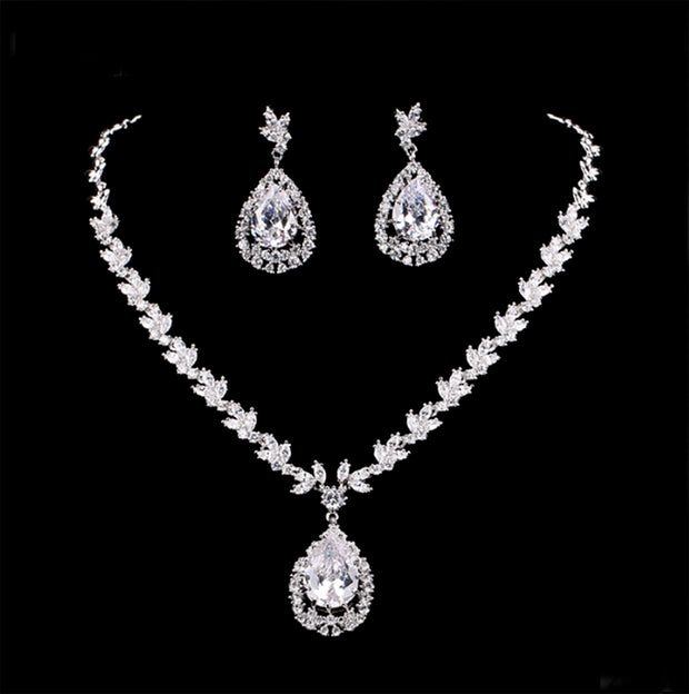 Glamorous AAA CZ Necklace and Earring Set for Weddings and Special Occasions