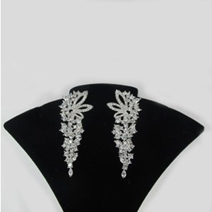 "Gorgeous AAA Zirconia Wedding/Special Occasion  ""Statement"" Earrings"
