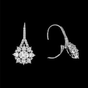 Graceful CZ Wedding Earring Lever Back for Brides or Special Occasions