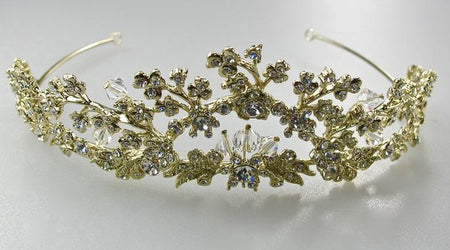 Gold and Crystal Tiara/Crown for Brides