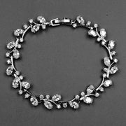 FLORAL BRACELET with AAA Cubic Zirconia